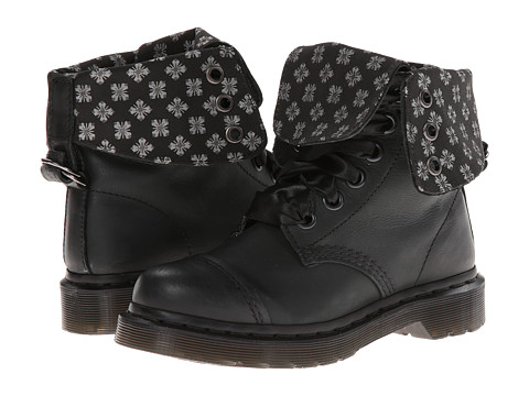 Dr. Martens - Aimilita 9-Eye Toe Cap Boot (Black Darkened Mirage) Women