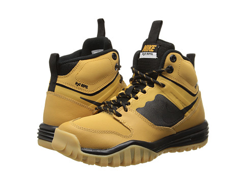 Nike Kids - Dual Fusion Hills Mid (Little Kid/Big Kid) (Haystack/Gum Yellow/Black) Boys Shoes