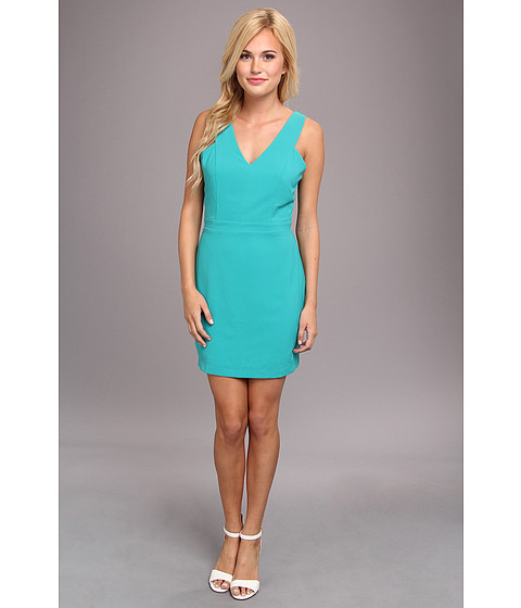 Aryn K - V-Neck Tank Dress w/ Cutout Back (Seafoam) Women's Dress