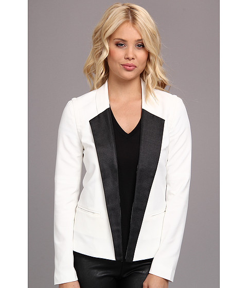 Aryn K - AJ6289B Blazer (Black/White) Women's Jacket