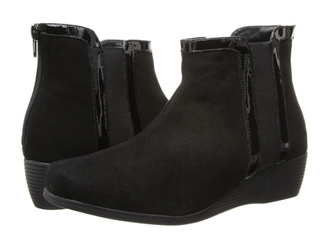 Fitzwell - Garland (Black Suede Leather/Kid Leather Trim) Women