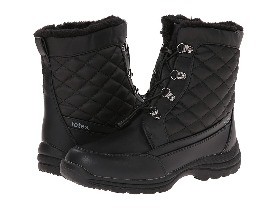 Totes - Tina (Black) Women's Cold Weather Boots