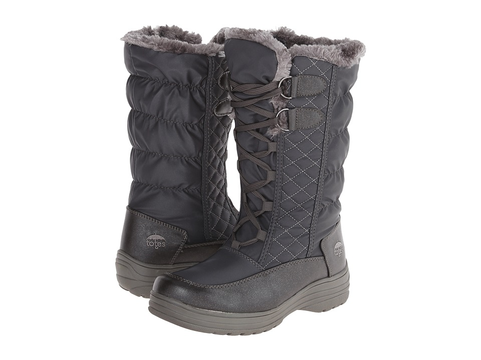 Totes - Claudia (Grey) Women's Cold Weather Boots