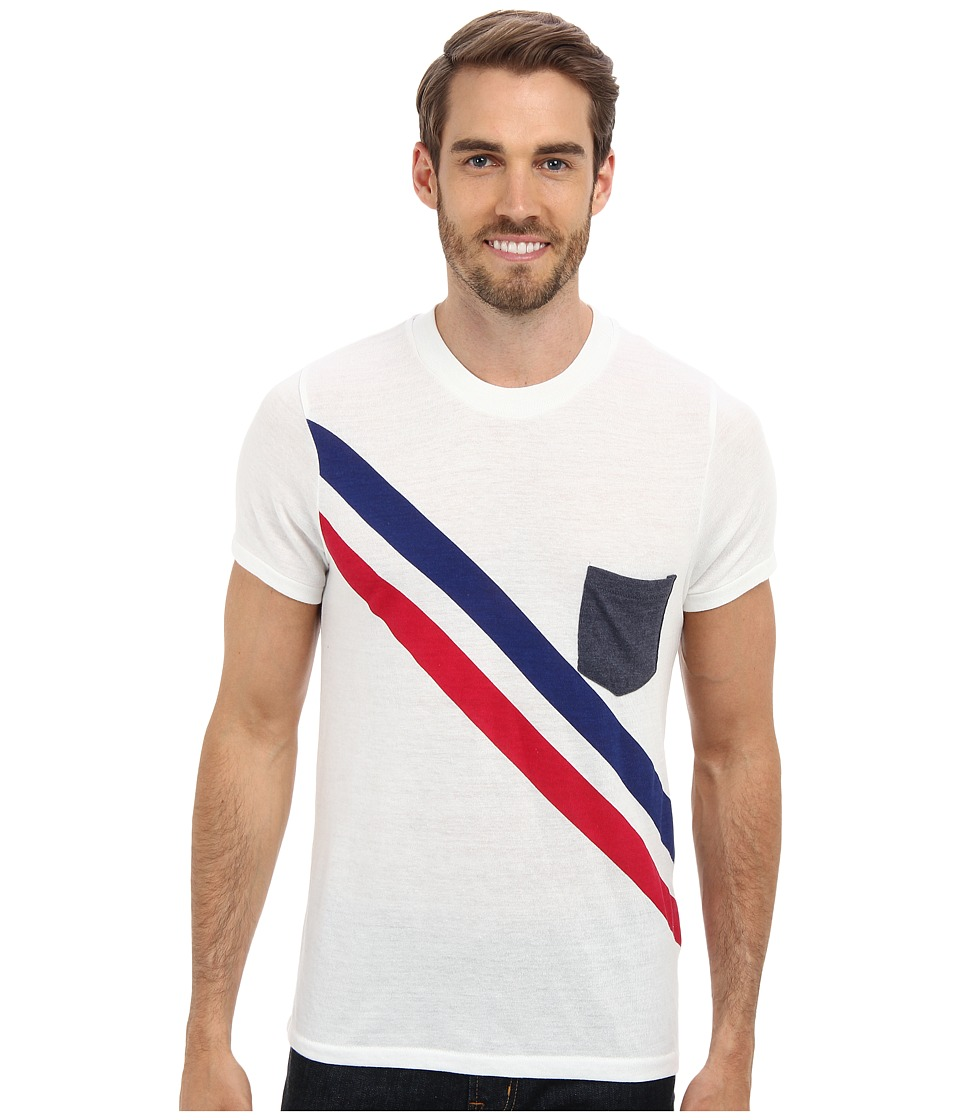 Alternative - Kennedy Pocket Tee (Diagonal Stripes) Men's Short Sleeve Pullover