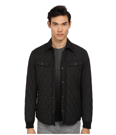 Vince - Quilted CPO Jacket (Black) Men's Coat
