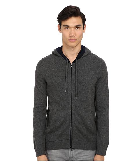 Vince - L/S Zip Up Hoodie (Heather Carbon) Men's Sweatshirt