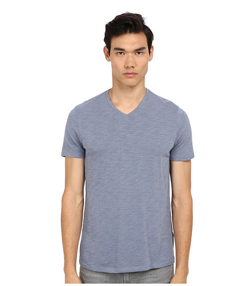 Vince - S/S V-Neck Tee (Britney Blue) Men's Short Sleeve Pullover
