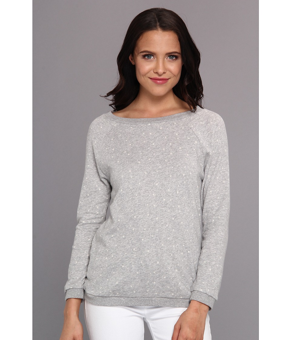 Image of BCBGeneration - 3/4 Sleeve Pullover Top PPH1S041 (Heather Grey) Women's Sweatshirt
