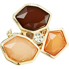 SALE! $12.99 - Save $47 on Leslie Danzis Geometric Stretch Cluster Ring (Brown) Jewelry - 78.35% OFF $60.00