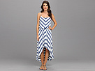 Seven7 Jeans - Chevron Hi-Low Dress (Blue Stripe Combo) - Apparel