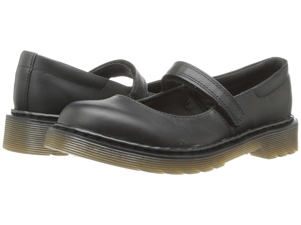Dr. Martens Kid's Collection - Maccy Mary Jane (Little Kid/Big Kid) (Black Softy T) Girls Shoes