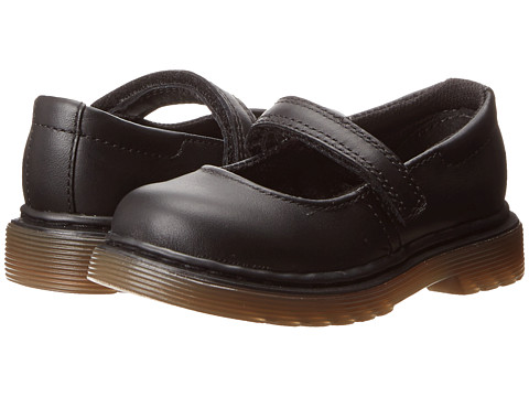 Dr. Martens Kid's Collection - Tully Mary Jane (Toddler) (Black Softy T) Girls Shoes