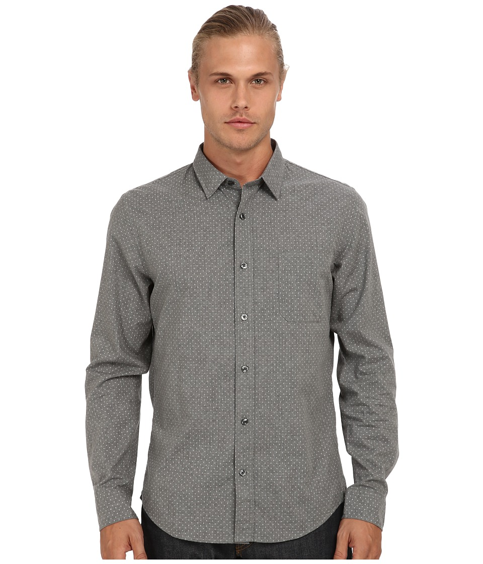 Vince - Utility Pocket Button Up (Grey) Men's Long Sleeve Button Up