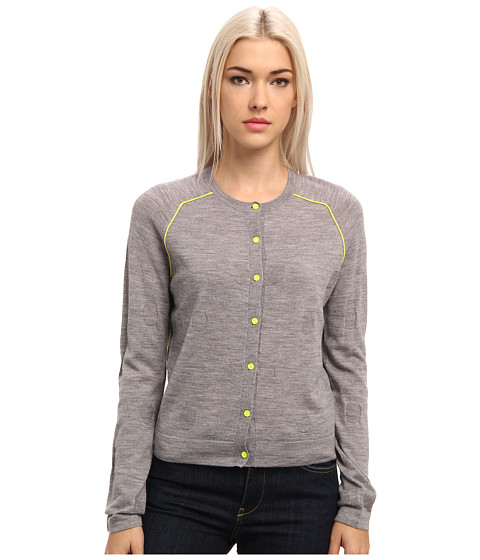 Paul Smith - Reverse Polka Dot Cardigan (Grey) Women's Sweater