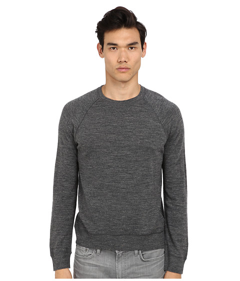 Vince - L/S Raglan Crew Sweater (Grey) Men