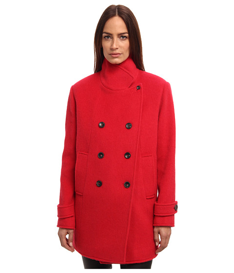 Paul Smith - Double Breasted Coat (Coral) Women's Coat