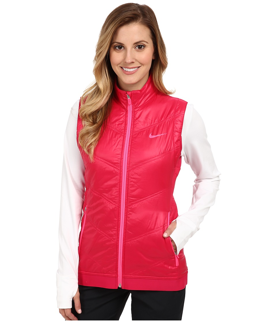 Nike Golf - Thermal Mapping Vest (Fuchsia Force/Light Magnet Grey) Women