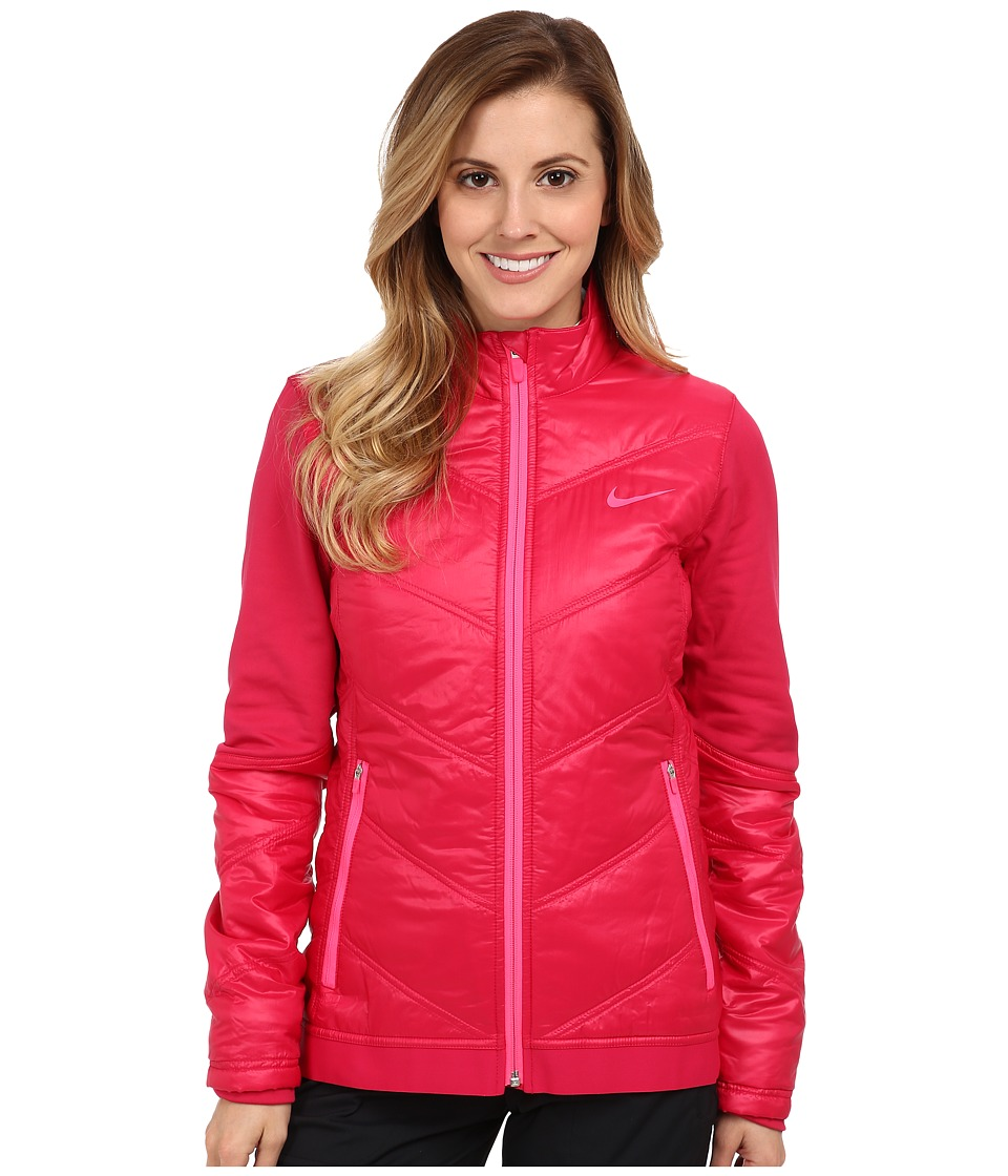 Nike Golf - Thermal Mapping 3D Jacket (Fuchsia Force/Light Magnet Grey) Women's Coat