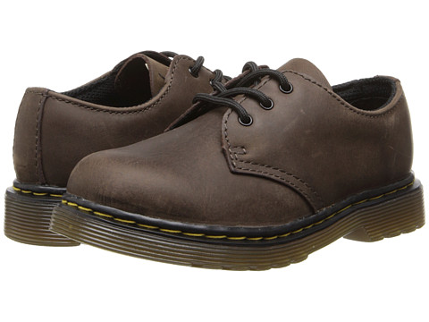 Dr. Martens Kid's Collection - Colby Lace Shoe (Toddler) (Dark Brown Burnished Wyoming) Kids Shoes