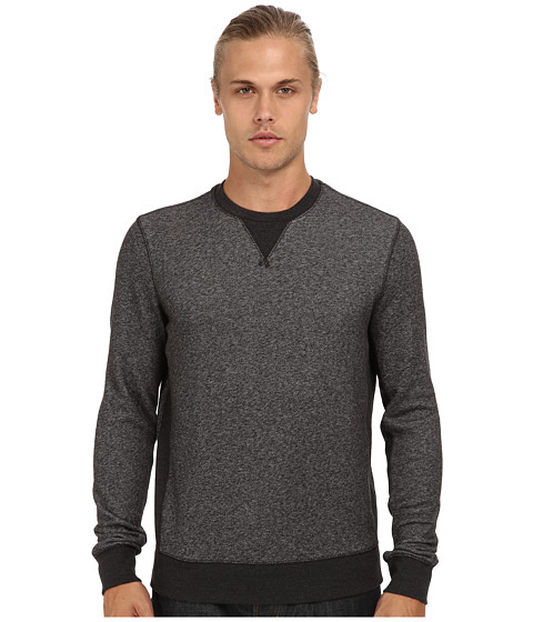 Vince - L/S Crew Neck Sweater (Dark Grey) Men's Long Sleeve Pullover