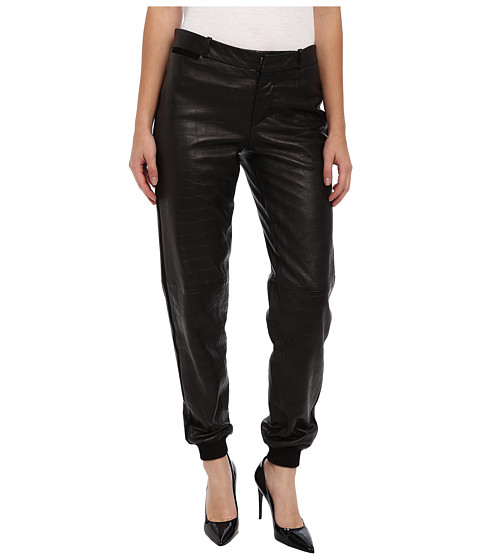 Paul Smith - Leather Track Pant (Black) Women