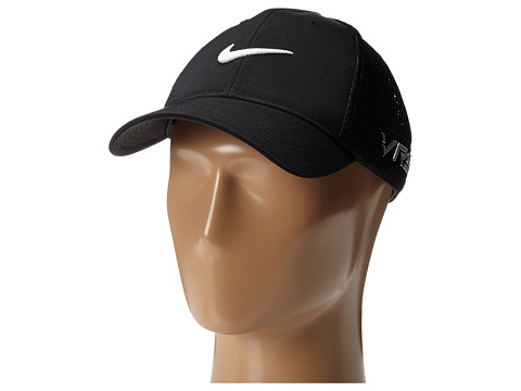 Nike Golf - Tour Flex-Fit Cap (Black/Black/White Multi Snake) Caps