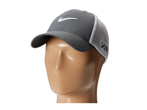 Nike Golf - Tour Flex-Fit Cap (Dark Grey/White/White) Caps