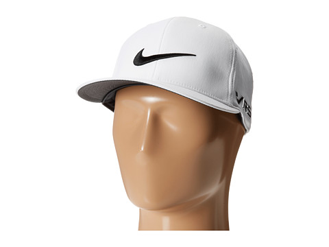 Nike Golf - Flat Bill Tour Cap (White/White/Black) Caps