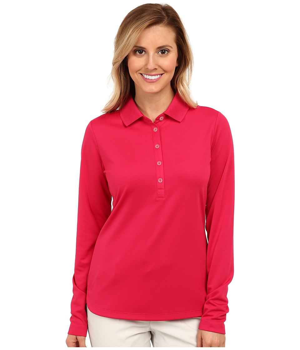 Nike Golf - Nike Victory L/S Polo (Fuchsia Force/Fuchsia Force) Women