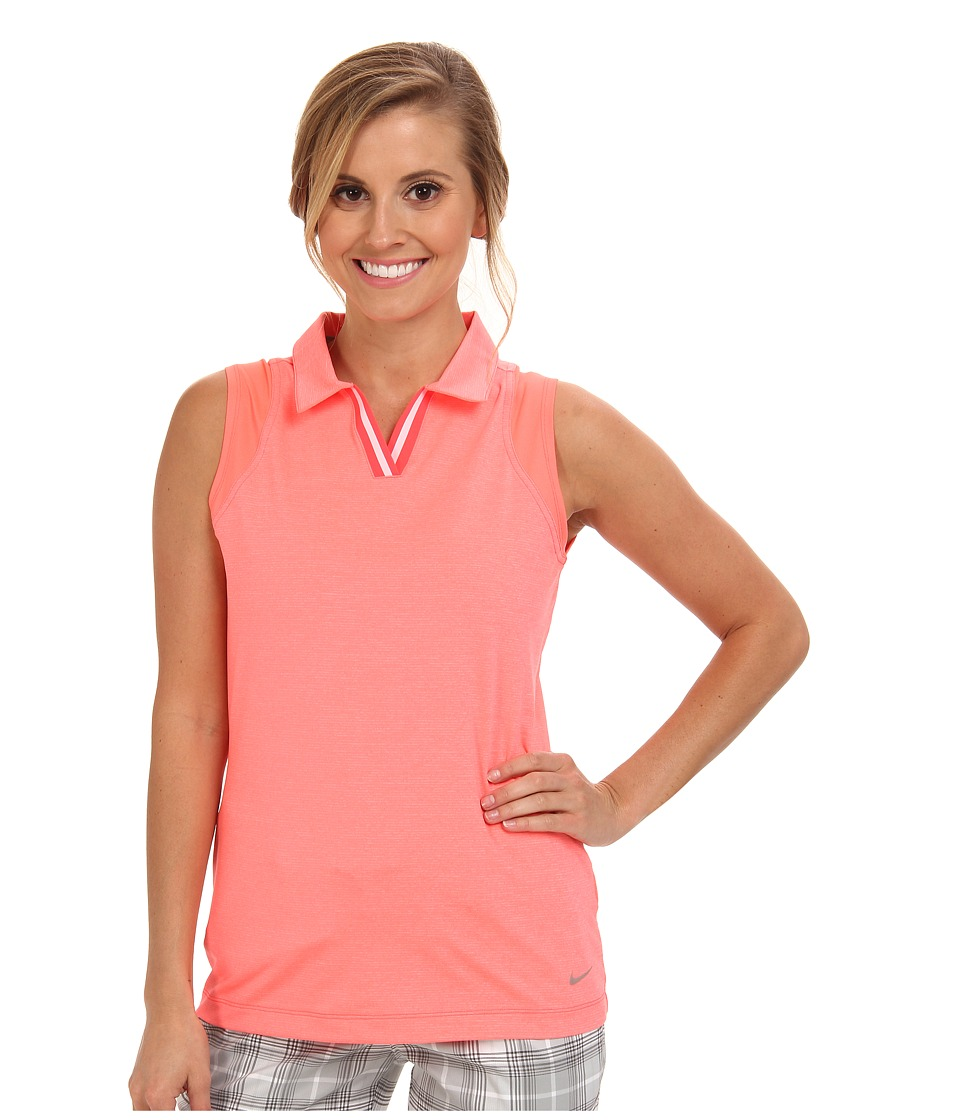 Nike Golf - Sleeveless Mesh Polo (Laser Crimson) Women