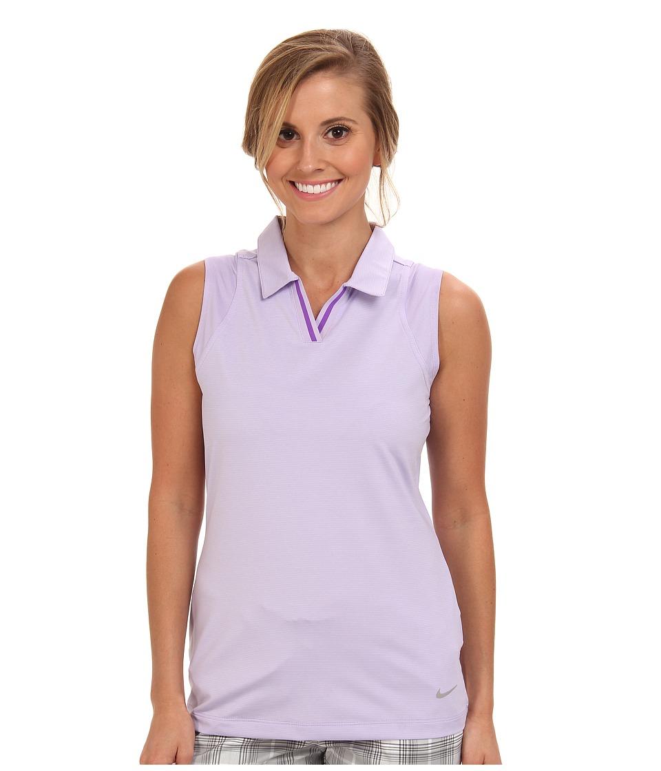 Nike Golf - Sleeveless Mesh Polo (Hydrangeas) Women's Sleeveless