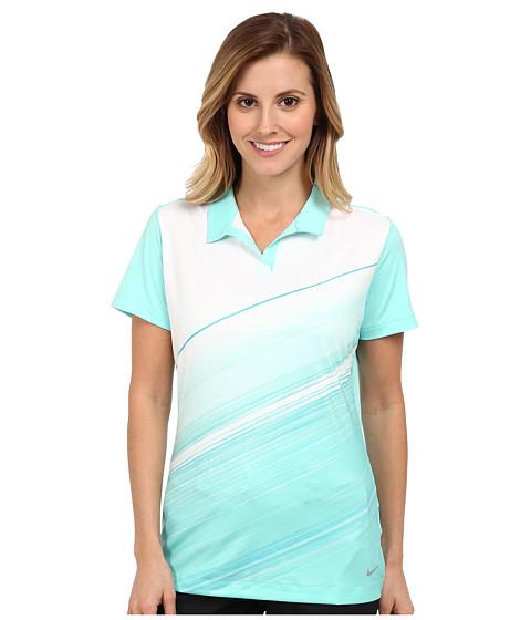 Nike Golf - Speed Stripe Mesh Polo (Hyper Turquoise) Women's Short Sleeve Knit