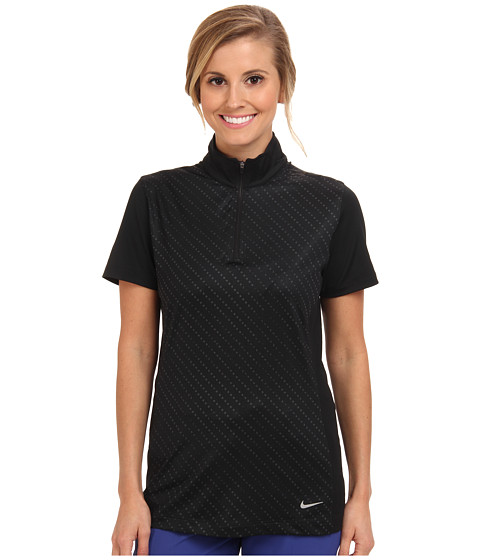 Nike Golf - Convert 1/2 Zip Top (Black/Black/Metallic Silver) Women's Clothing