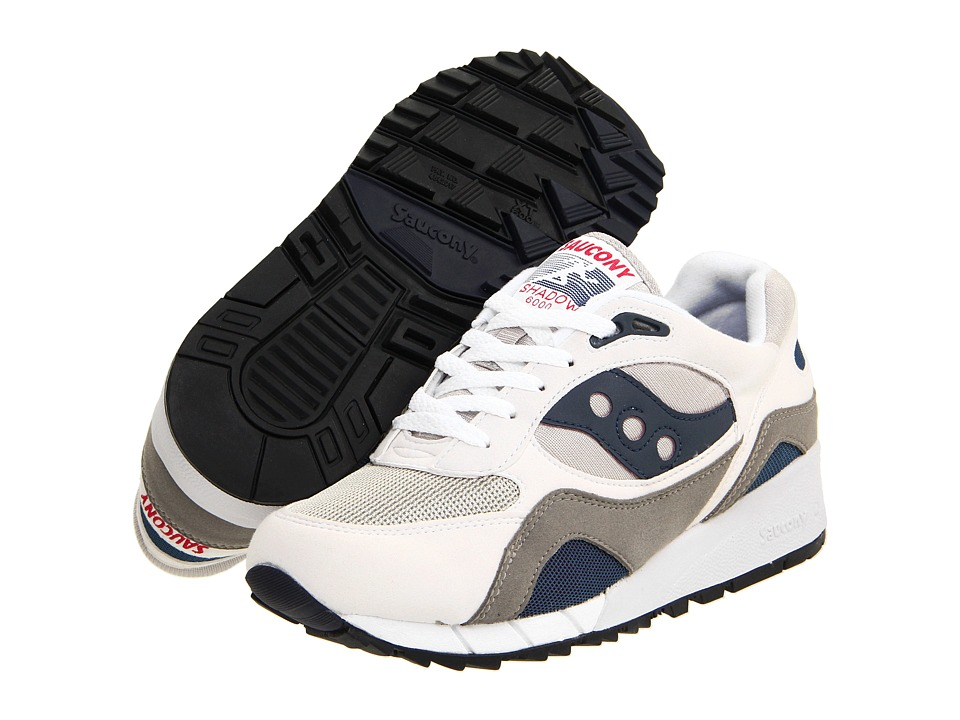 Saucony - Shadow 6000 (White/Grey/Navy/Berry) Men's Shoes