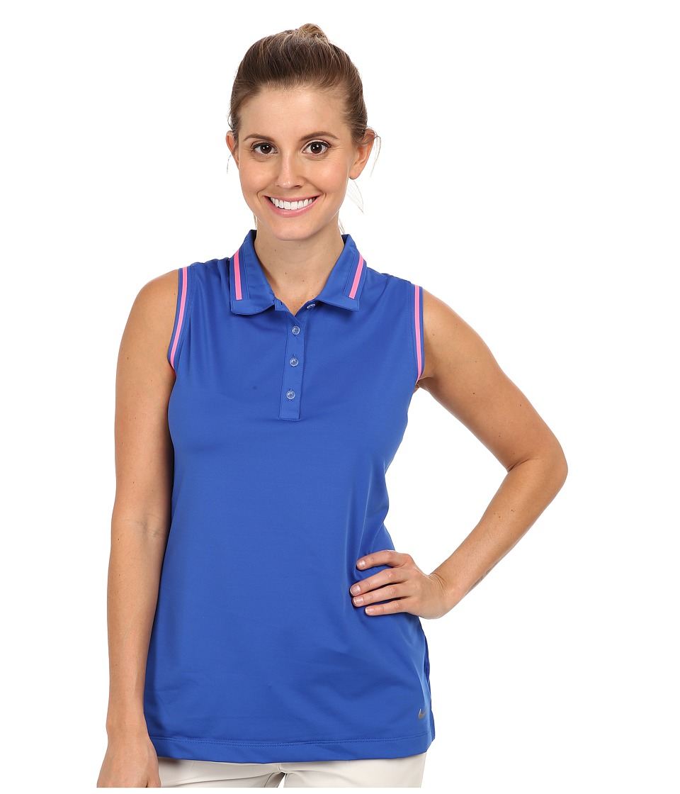 Nike Golf - Key Sleeveless Polo (Game Royal/Metallic Silver) Women's Sleeveless
