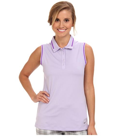 Nike Golf - Key Sleeveless Polo (Hydrangeas/Metallic Silver) Women's Sleeveless