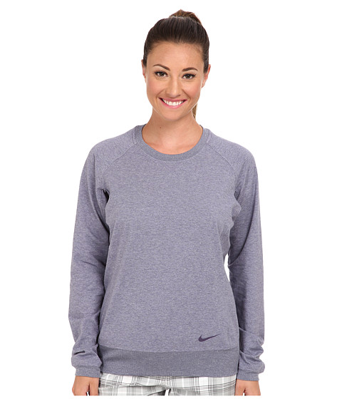 Nike Golf - Sport Crew Cover-Up (Light Steel Heather) Women's Long Sleeve Pullover