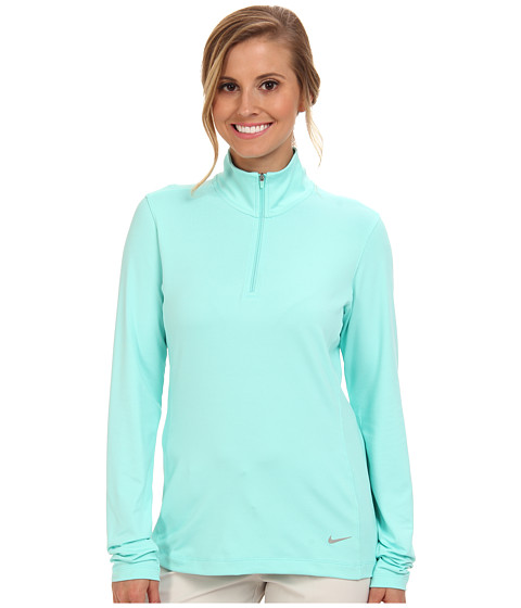 Nike Golf - 1/2 Zip Key Coverup (Hyper Turq/Metallic Silver) Women's Sweatshirt