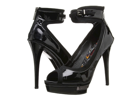 2 Lips Too - Too Profile (Black PU) High Heels