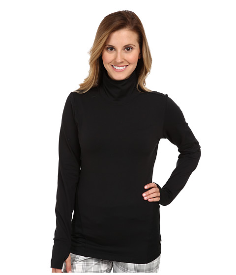 Nike Golf - Warm Mock (Black/Metallic Silver) Women's Long Sleeve Pullover