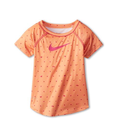 Nike Kids - Dri-FIT Printed Tee (Toddler) (Atomic Orange) Girl's T Shirt