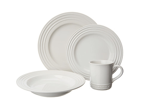 Le Creuset - 4 Piece Dinnerware Set (White) Cookware Sets