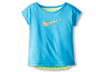 Nike Kids Dri-FIT Swoosh Fashion Tee (Toddler/Little Kid) (Vivid Blue) Girl's Short Sleeve Pullover