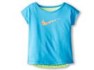 Nike Kids Dri-FIT Swoosh Fashion Tee (Toddler/Little Kid) (Vivid Blue)