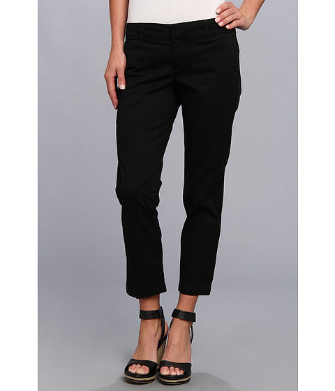 KUT from the Kloth - Relaxed Trouser Crop (Black) Women's Casual Pants