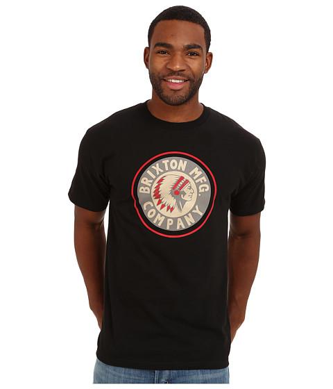 Brixton - Standard Rival S/S Tee (Black) Men's T Shirt