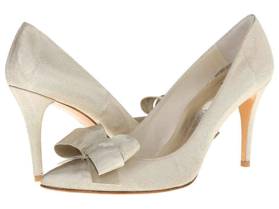 Stuart Weitzman Bridal & Evening Collection Boodle (Beige Moire Silk) High Heels