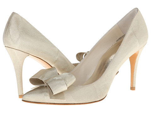 Stuart Weitzman Bridal & Evening Collection - Boodle (Beige Moire Silk) High Heels