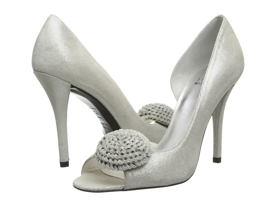 Stuart Weitzman Bridal & Evening Collection Lollipop (Silver Cipria) High Heels