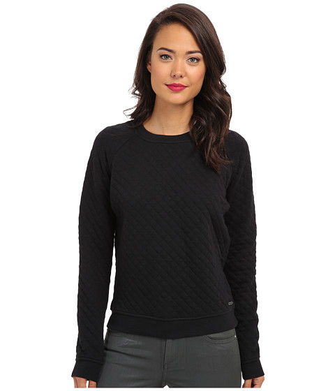 Converse - Quilted Crew Shirt (Black) Women's Long Sleeve Pullover